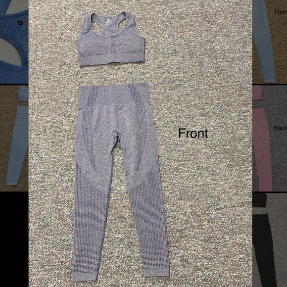Pants - Workout set legging & sports bra high waisted Cute
